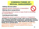 common forms of sexual harassment