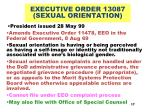 executive order 13087 sexual orientation