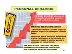 personal behavior