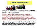 train employees