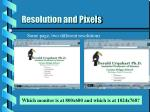resolution and pixels24