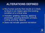 alterations defined