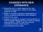 changes with new ordinance