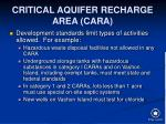 critical aquifer recharge area cara23