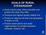 goals of rural stewardship