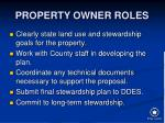 property owner roles