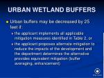 urban wetland buffers
