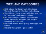 wetland categories