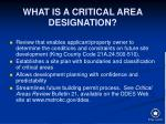 what is a critical area designation