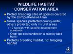 wildlife habitat conservation area