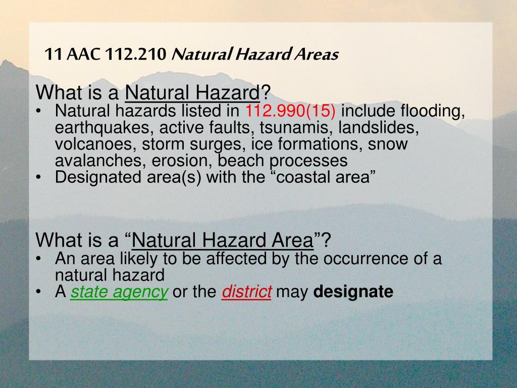 11 aac 112 210 natural hazard areas l.
