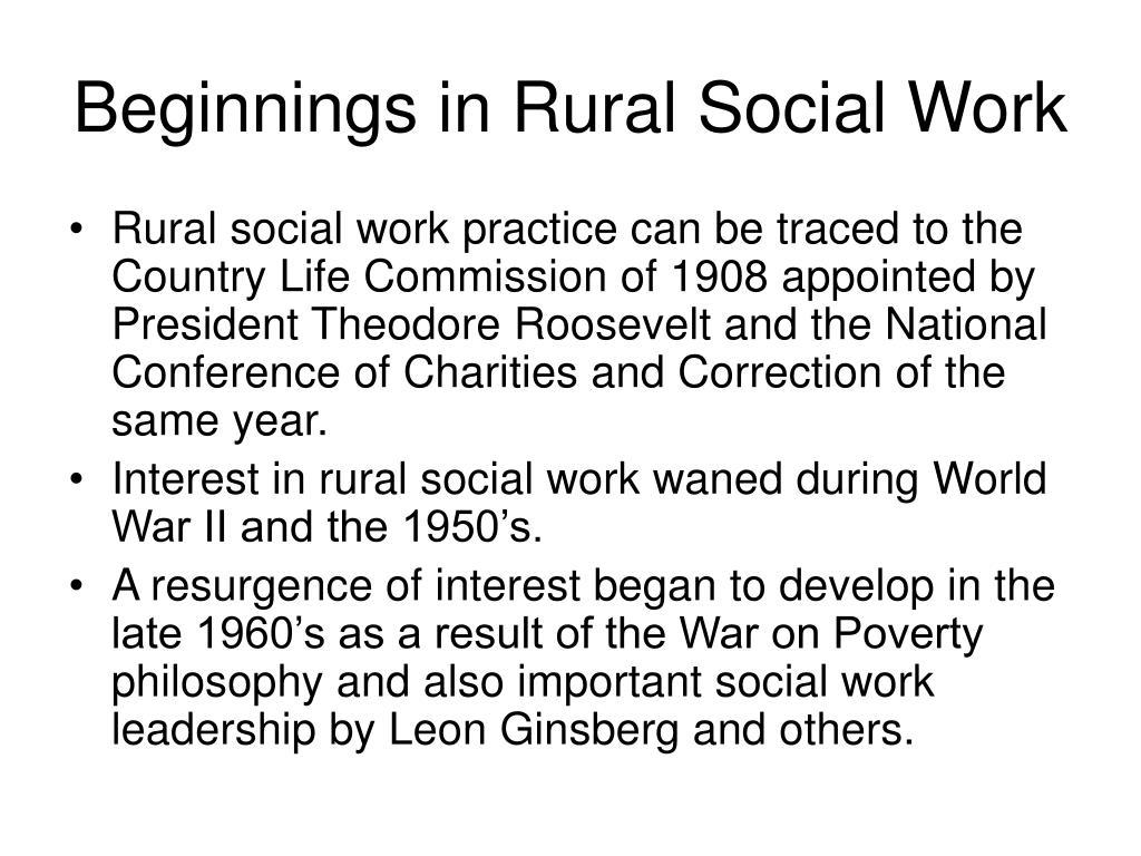 Beginnings in Rural Social Work