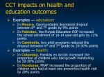 cct impacts on health and education outcomes