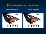 distance matters honduras