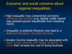 economic and social concerns about regional inequalities
