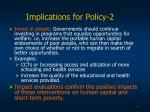 implications for policy 2