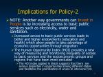 implications for policy 234