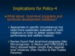 implications for policy 4