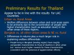 preliminary results for thailand