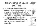 relationship of space and time