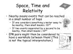 space time and relativity16