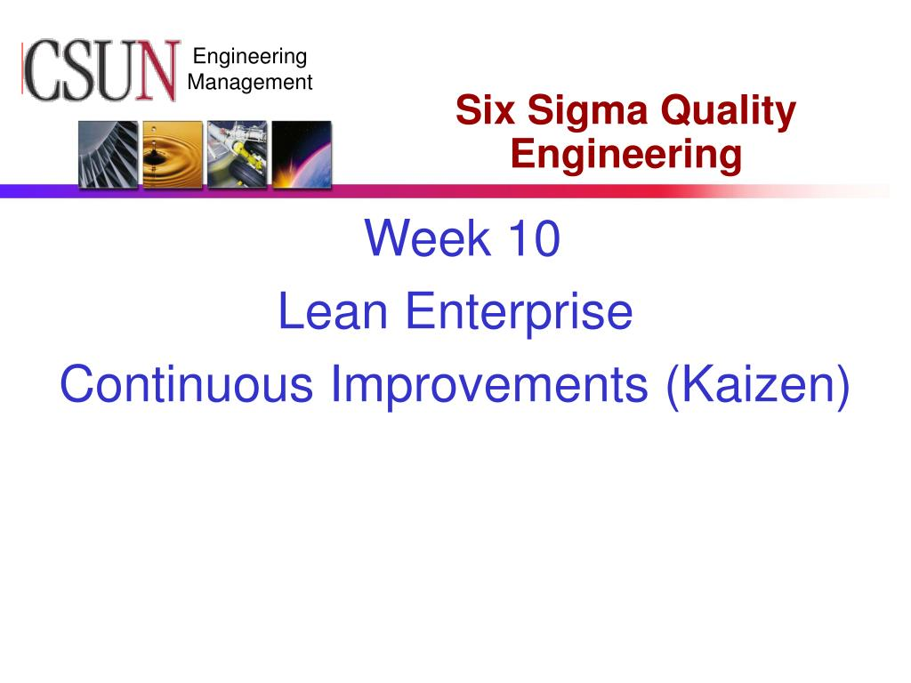 six sigma quality engineering l.