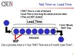 takt time vs lead time