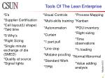 tools of the lean enterprise