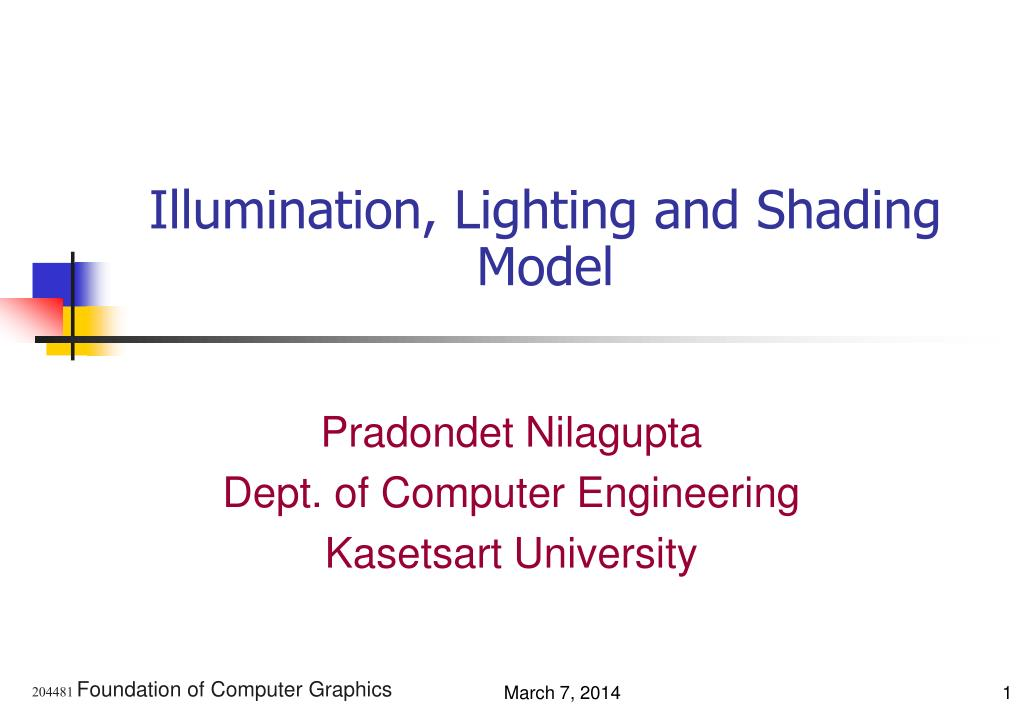 illumination lighting and shading model l.