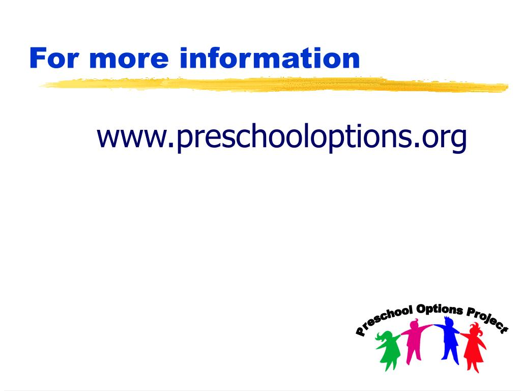 www.preschooloptions.org