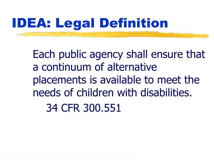 Idea legal definition