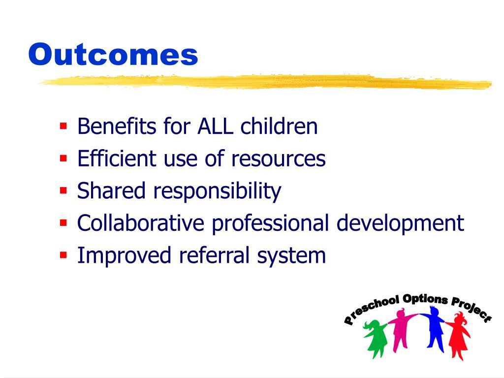 Benefits for ALL children