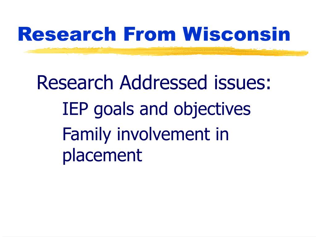 Research Addressed issues:
