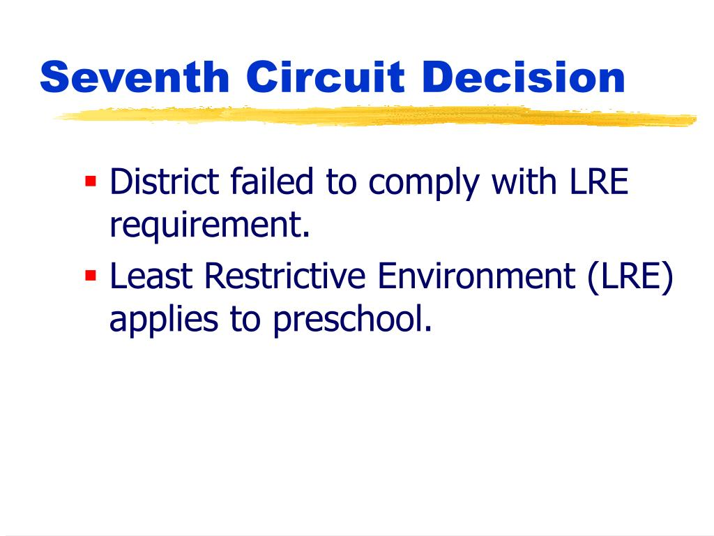 District failed to comply with LRE requirement.