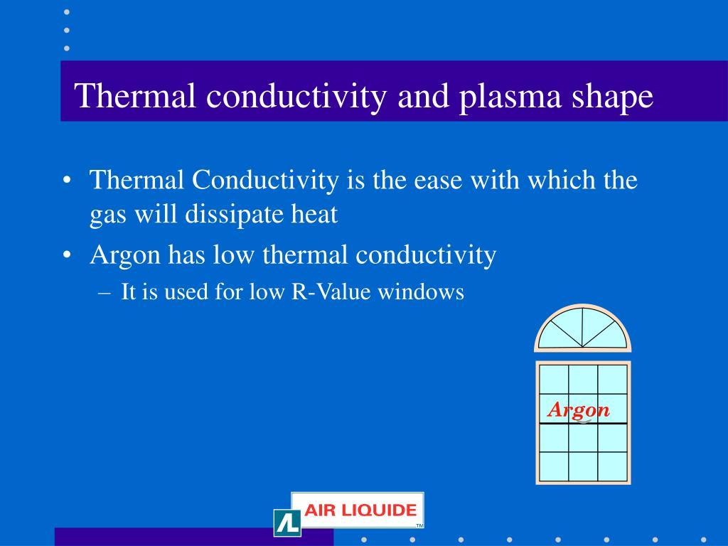 Thermal conductivity and plasma shape