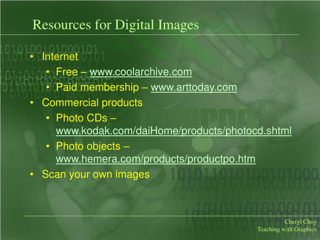 Resources for Digital Images