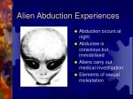 alien abduction experiences