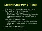 drawing order from bsp trees