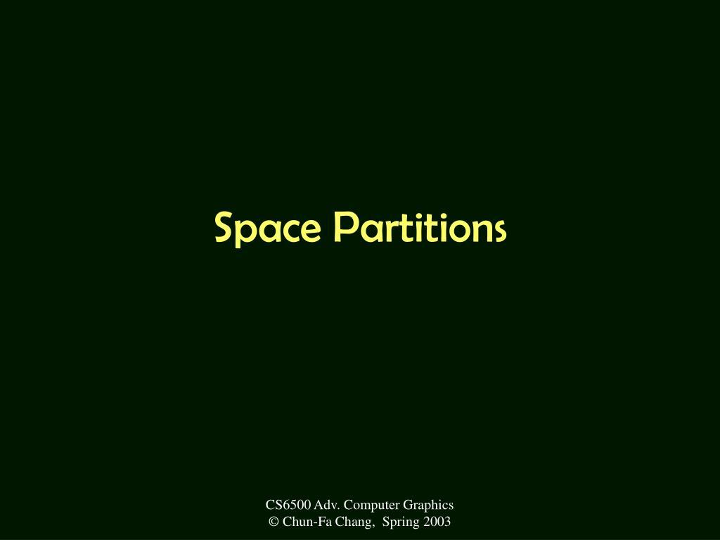 space partitions l.