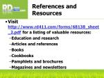 references and resources