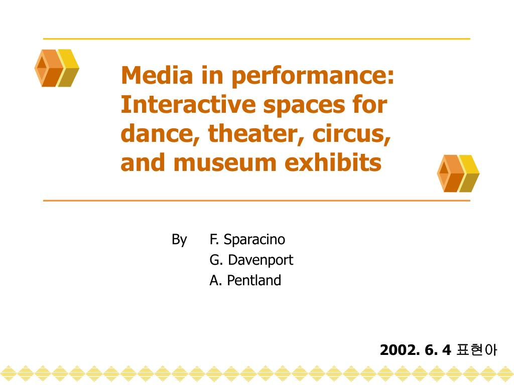 media in performance interactive spaces for dance theater circus and museum exhibits l.