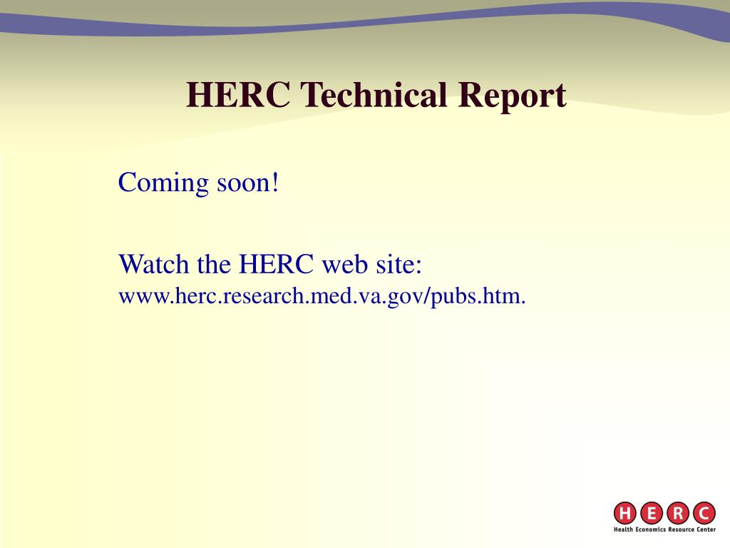 HERC Technical Report