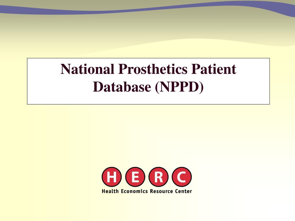 National Prosthetics Patient Database (NPPD)