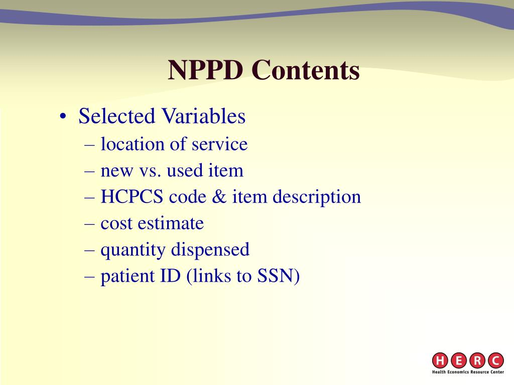 NPPD Contents