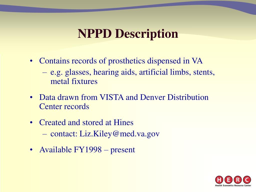 NPPD Description