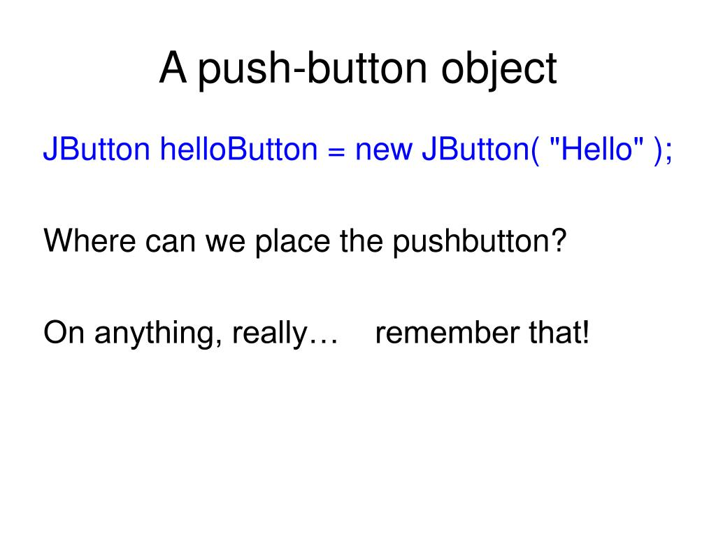 A push-button object