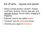 the jframe layouts and panels