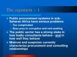 the argument 1