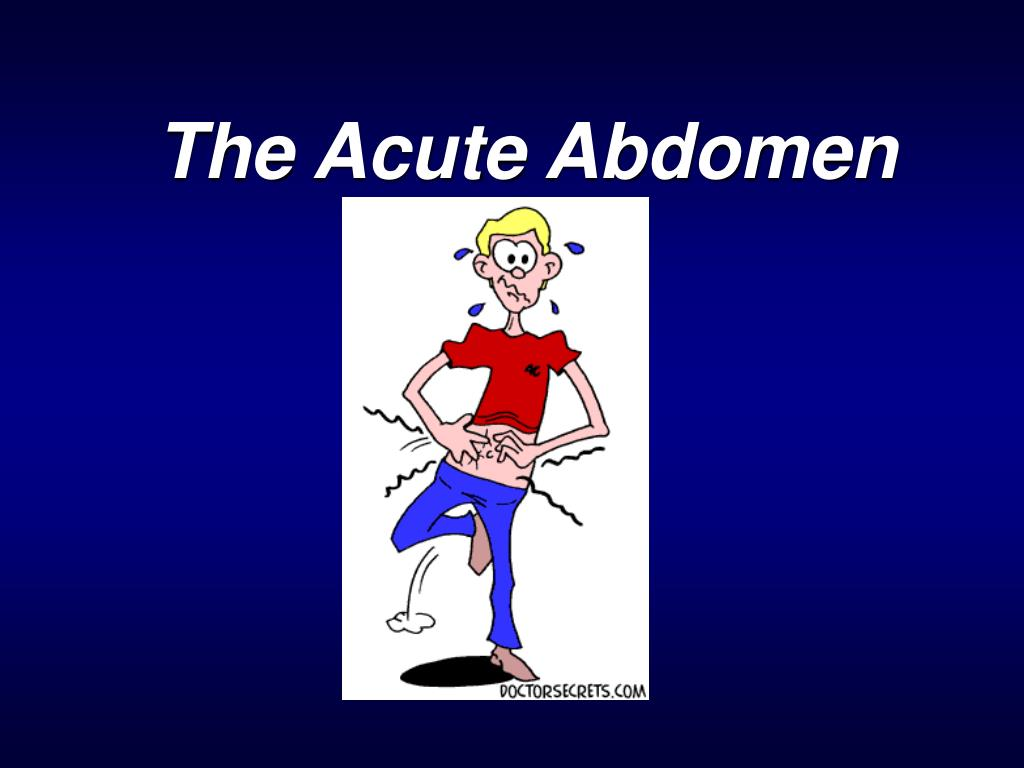 the acute abdomen l.