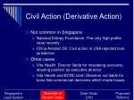civil action derivative action
